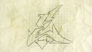 How to make a Wildstyle graffiti letter HD