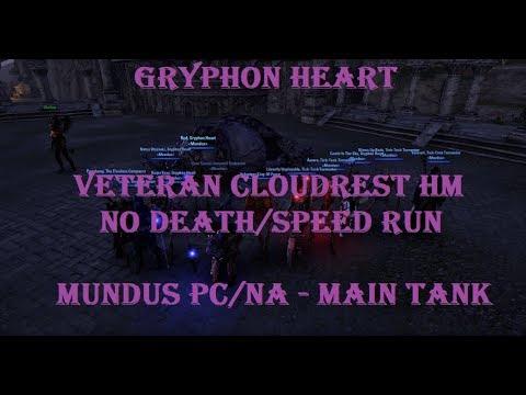 Cloudrest Hard Mode, Gryphon Heart - First Title Trinity NA (Mundus PC/NA) Main Tank PoV   ESO
