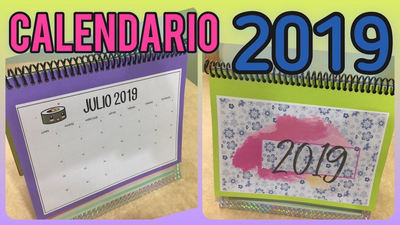 Calendario 2019 Calendario De Escritorio 2019 Para Imprimir