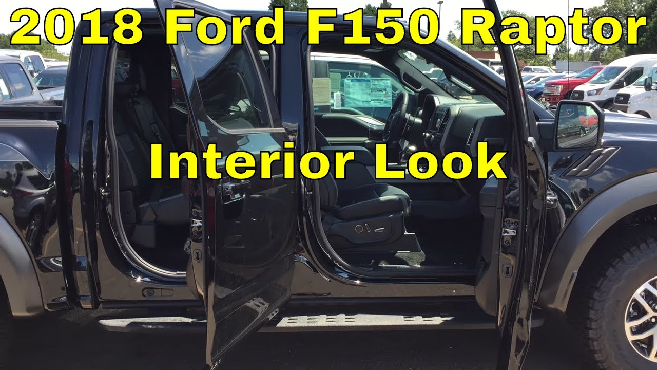 2018 ford f150 raptor interior look black leather and carbon fiber package shadow black