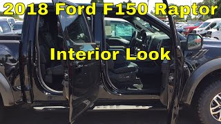 2018 Ford F150 Raptor - Interior Look - Black Leather and Carbon Fiber Package - Shadow Black