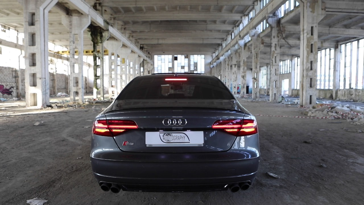 Launching the 605hp Audi S8 Plus in an abandoned muddy factory. Boom!