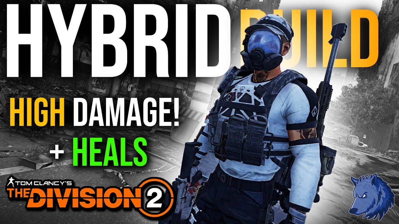 The Division 2 My Best Hybrid Build High Damage And Heals For You And Your Team Youtube