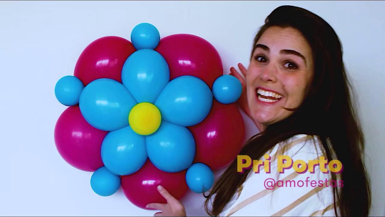 Como Fazer Flor de Balões Dois Bicos Passo a Passo YouTube -> Decoração Com Balões Como Fazer Passo A Passo