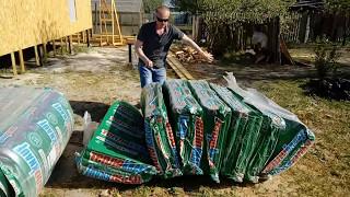 тест утеплителя Кнауф КОТТЕДЖ, который мы используем для строительства каркасного дома