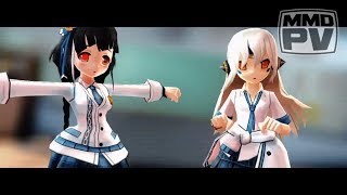 【エルソードMMD】 ❝ Yankee Boy ・ Yankee Girl ❞ :: • ヤンキーボーイ・ヤンキーガール • 【School Uniforms   Eve&Ara】