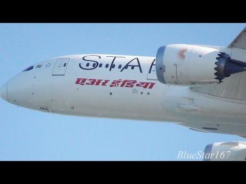 [1st Star Alliance 787] Air India Boeing 787-8 (VT-ANU) takeoff from KIX/RJBB (Osaka - Kansai) 06R