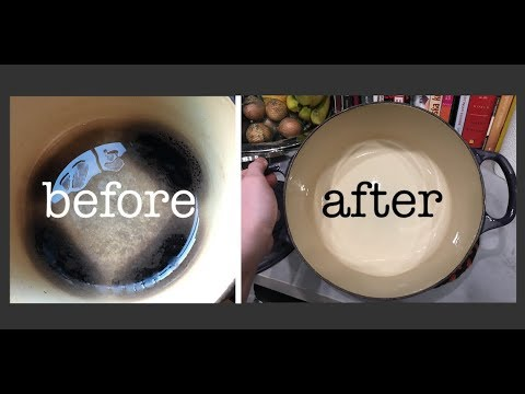 DIY / Easy Kitchen Tip: How To Clean a Burnt Pan or Pot - Le Creuset