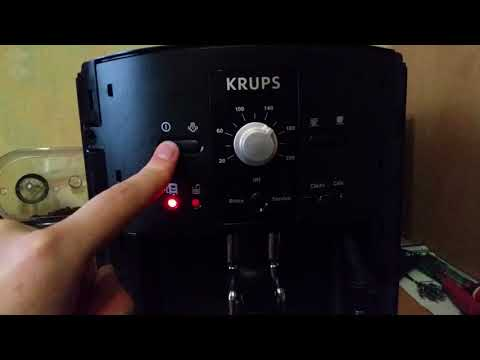 Krups EA8000 problem. Clean blinking.