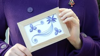 Purple Framed Quilling Art Tutorial