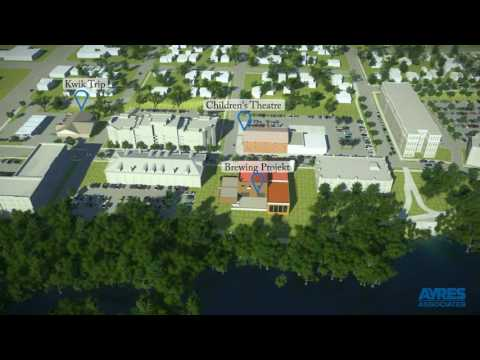 Cannery District Redevelopment Concept Flyover -- Eau Claire, Wisconsin – 2017