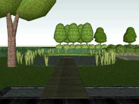 3d animatie tuinontwerp landschapstuin youtube - Tuinontwerp ...