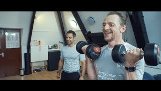 Ware Personal Trainer Nick Lower helps Simon Pegg