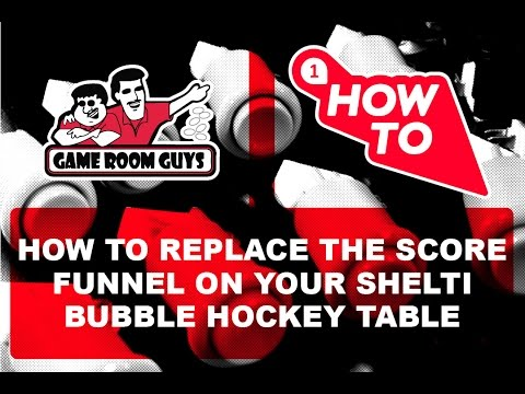 How To Replace A Shelti Bubble Hockey Scoring Funnel | Game Room Guys
