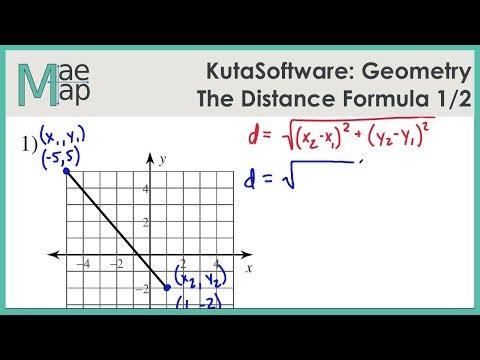 KutaSoftware: Geometry- The Distance Formula Part 1