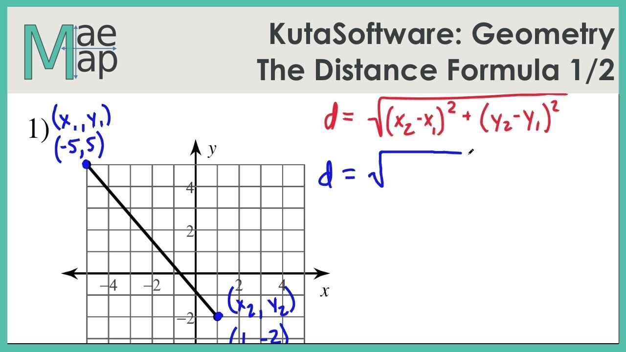kutasoftware geometry the distance formula part 1 youtube. Black Bedroom Furniture Sets. Home Design Ideas