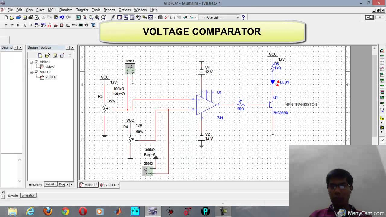 Zero cross detection & voltage comparator