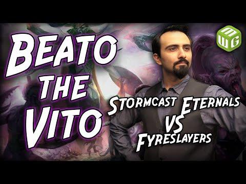 Stormcast Eternals vs Fyreslayers Age of Sigmar Battle Report - Beato the Vito Ep 35