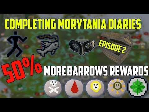 OSRS- Unlocking 50% More Barrows Rewards! MASSIVE GAINS Completing the Morytania Diaries (Ep 2)