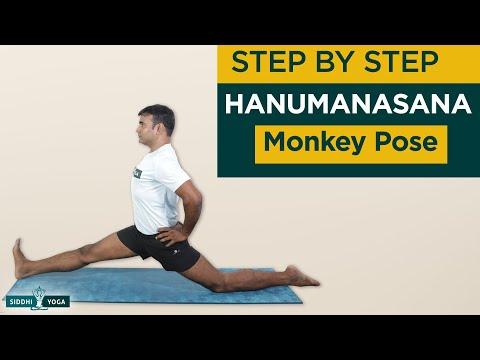 Hanumanasana (Monkey Pose) Benefits, Contraindications, How to Do by Yogi RiteshSiddhi Yoga