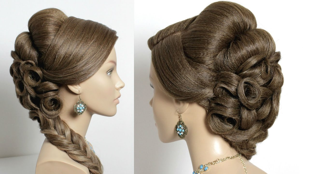 bridal wedding hairstyle for long hair - youtube