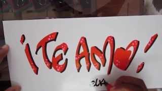 Letra Timoteo - Te Amo - Caligrafia