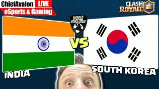 LIVE: INDIA vs SOUTH KOREA - Clash Royale ASIAN WRL FINAL