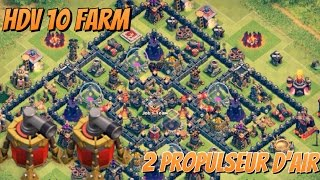 Meilleur village Farm HDV 10 Avec deux Propulseur D'air ! Clash of Clans