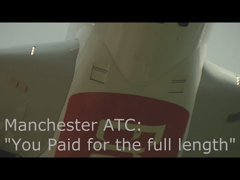 EK17 Funny Emirates Airbus A380 ATC communications Manchester Airport A6-EEU