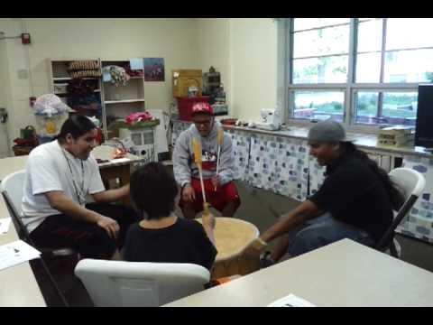 Nebraska Urban Indian Health Coalition Drumming