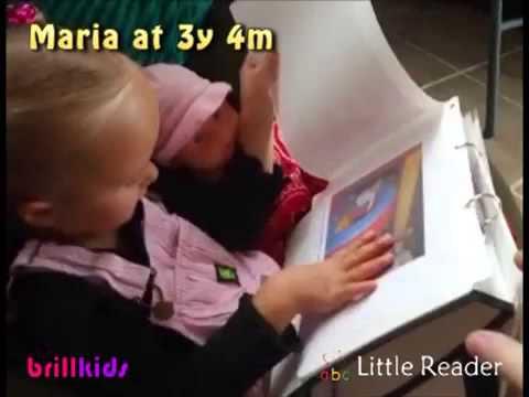 Toddler Maria reading at 3 yea...
