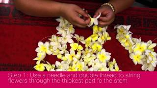 How to Make a Hawaiian Lei in 3 Easy Steps