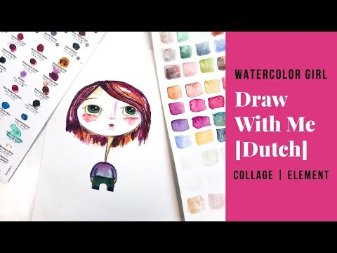 Draw With Me I Watercolor Girl [Dutch]