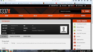 How To Set Profile Avatar Torrent 1337x to