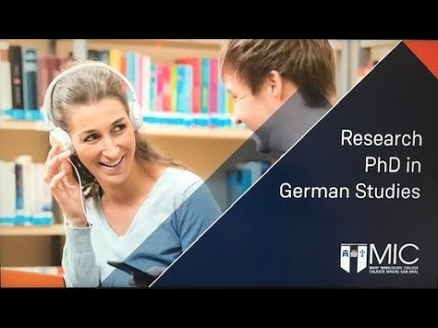 Research PhD in German Studies at MIC