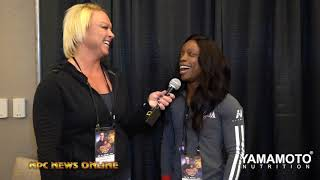 IFBB Figure Pro Nadia Wyatt Figure  Interview At The 2019 Arnold Sports Festival