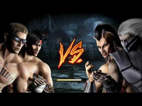 Mortal Kombat 9 Tag Team Ladder Liu Kang And Johnny Cage Expert (No rounds,matches lost;no block)
