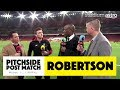 PITCHSIDE: Robertson post match reaction | Arsenal 1-1 Liverpool | Astro SuperSport