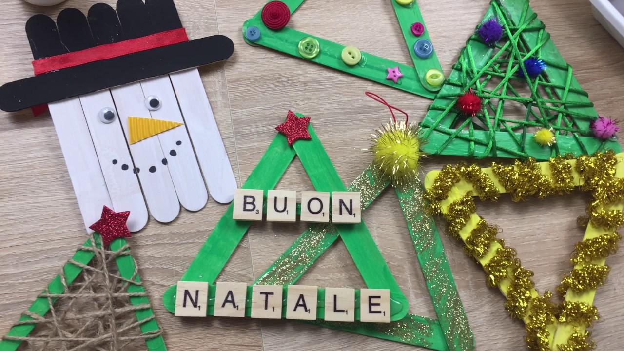 Lavoretti Di Natale Con I Bastoncini Del Gelato.Decorazioni Di Natale Con Stecchi Gelato Tutorial