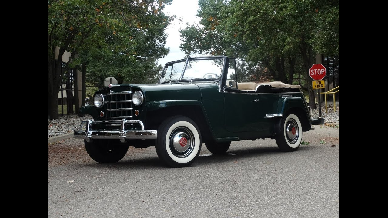 1950 Willy's Jeepster - YouTube