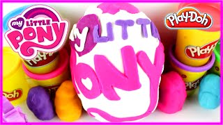 My Little Pony Play-doh Big Surprise Egg Collection Twilight Pinkie Rarity Fluttershy Rainbow Dash