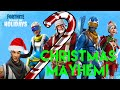 Fortnite! Christmas Mayhem....Crazy Ending (funny games)