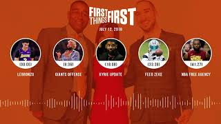 First Things First audio podcast(7.12.18) Cris Carter, Nick Wright, Jenna Wolfe | FIRST THINGS FIRST