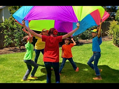 Thumbnail: Learn English Colors! Parachute Play with Sign Post Kids!