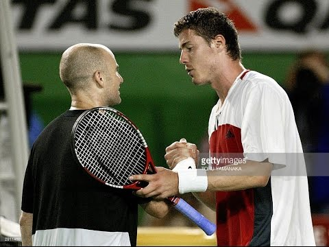 Marat Safin VS Andre Agassi Highlight 2004 AO SF