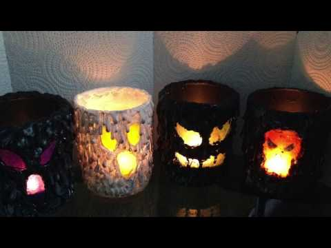 "Halloween DIY ""Scary"" Candle Holder (Tea Light)(How too)"