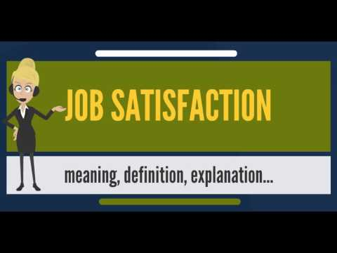 What is JOB SATISFACTION? What does JOB SATISFACTION mean? JOB SATISFACTION meaning