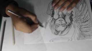 """Dibujando a: """"Angel Sexy"""" por —""""Angel Dust""""—"""
