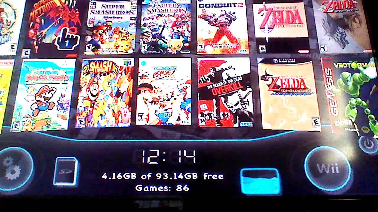 Nintendo Wii Usb Loader Gx Plus Emunand Games Youtube