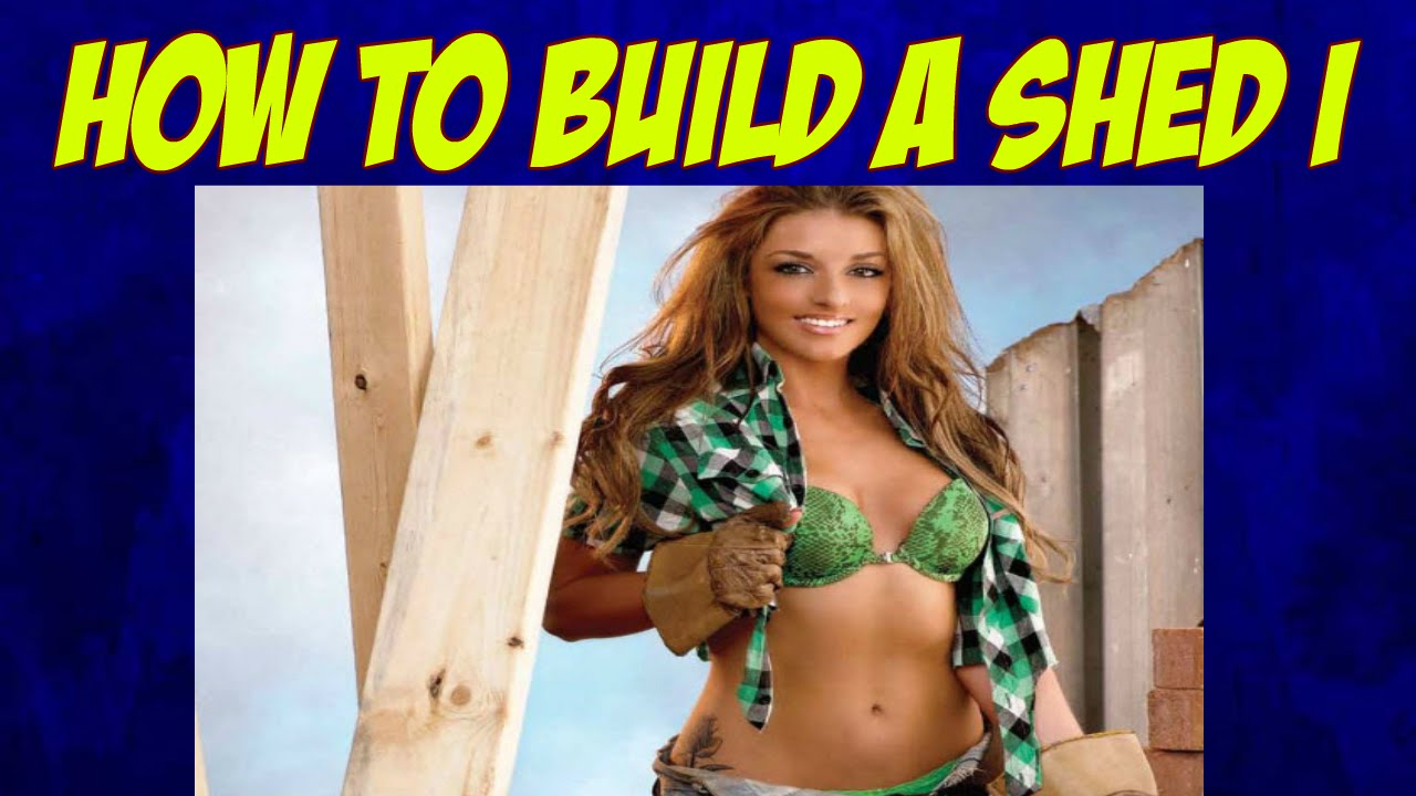 How to Build a Wood Shed-Shed Building Plans-Custom Sheds - YouTube